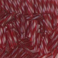 Miyuki Twisted Bugles, 2.7 x 12mm, SKU 502712.TW2712-1716, Transparent Ruby, 17-22 gram tube, (1 17-22 gram tube, apprx 170 beads)