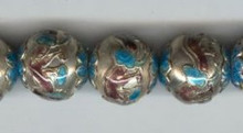 Enameled Dragon, 18mm, Oriental Metal Bead, (4 beads)