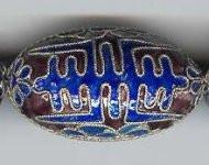 Twist Wire Enameled Long Life Purple, 35mm, Oriental Metal Bead, (2 beads)