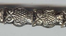 Owl Large, 28mm, Oriental Metal Bead, (2 beads)