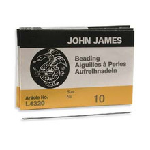 English Beading Needles, Size 10, regular length, (package of 25)