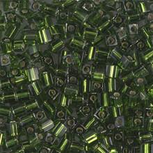 Japanese Miyuki 3x3 Cube Seed Bead, SKU 188003.SB3-0026, olivine s/l, (1 24-28gr tube, apprx 440 beads)