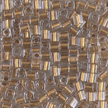 Japanese Miyuki 3x3 Cube Seed Bead, SKU 188003.SB3-0234, metallic gold lined crystal, (1 24-28gr tube, apprx 440 beads)