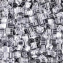 Japanese Miyuki 3x3 Cube Seed Bead, SKU 188003.SB3-0131, crystal, (1 24-28gr tube, apprx 440 beads)