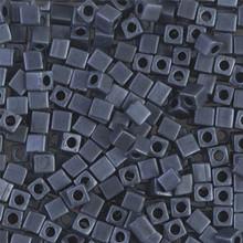 Japanese Miyuki 3x3 Cube Seed Bead, SKU 188003.SB3-2001, matte blue gray, (1 24-28gr tube, apprx 440 beads)