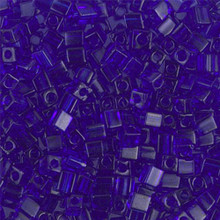Japanese Miyuki 3x3 Cube Seed Bead, SKU 188003.SB3-0151, transparent cobalt, (1 24-28gr tube, apprx 440 beads)