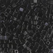 Japanese Miyuki 3x3 Cube Seed Bead, SKU 188003.SB3-0401, black, (1 24-28gr tube, apprx 440 beads)