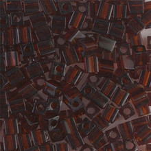Japanese Miyuki 4x4 Cube Seed Bead. SKU 189004.SB4-0134, Transparent Dark Amber, (1 24-28gr tube, apprx 336 beads)