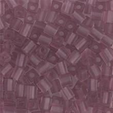 Japanese Miyuki 4x4 Cube Seed Bead. SKU 189004.SB4-0142F, matte transparent smoky amethyst, (1 24-28gr tube, apprx 336 beads)