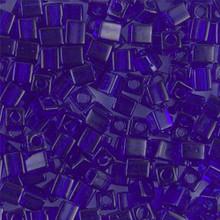 Japanese Miyuki 4x4 Cube Seed Bead. SKU 189004.SB4-0151, Transparent Cobalt, (1 24-28gr tube, apprx 336 beads)