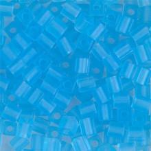 Japanese Miyuki 4x4 Cube Seed Bead. SKU 189004.SB4-0148F, matte transparent aqua, (1 24-28gr tube, apprx 336 beads)