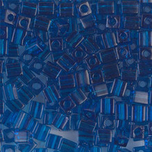 Japanese Miyuki 4x4 Cube Seed Bead. SKU 189004.SB4-0149, Transparent Capri Blue, (1 24-28gr tube, apprx 336 beads)