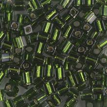 Japanese Miyuki 4x4 Cube Seed Bead. SKU 189004.SB4-0026, Olivine S/L, (1 24-28gr tube, apprx 336 beads)