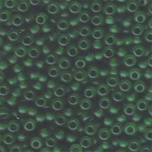 Japanese Miyuki Seed Beads, size 6/0, SKU 111031.MYK6-0146F, matte transparent green, (1 tube, apprx 24-28 grams, apprx 315 beads per tube)