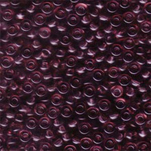 Japanese Miyuki Seed Beads, size 6/0, 0142, transparent smoky amethyst, (1 tube, apprx 24-28 grams, apprx 315 beads per tube)