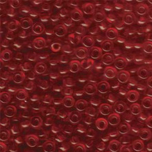 Japanese Miyuki Seed Beads, size 6/0, 0141, transparent ruby, (1 tube, apprx 24-28 grams, apprx 315 beads per tube)