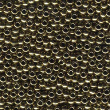 Japanese Miyuki Seed Beads, size 6/0, SKU 111031.MYK6-0457, metallic dark bronze, (1 tube, apprx 24-28 grams, apprx 315 beads per tube)