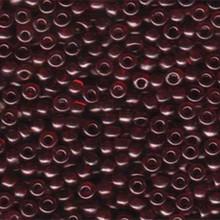 Japanese Miyuki Seed Beads, size 6/0, 0304, gold luster transparent dark red, (1 tube, apprx 24-28 grams, apprx 315 beads per tube)
