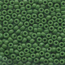 Japanese Miyuki Seed Beads, size 6/0, SKU 111031.MYK6-0411, opaque green, (1 tube, apprx 24-28 grams, apprx 315 beads per tube)