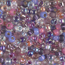 Japanese Miyuki Seed Beads, size 6/0, MIX 03, passion flower mix, (1 tube, apprx 24-28 grams, apprx 315 beads per tube)