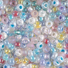 Japanese Miyuki Seed Beads, size 6/0, MIX 14, spring flowers mix, (1 tube, apprx 24-28 grams, apprx 315 beads per tube)