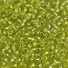 Japanese Miyuki Seed Beads, size 8/0, SKU 189008.MY8-0014, chartreuse silver lined, (1 26-28 gram tube, apprx 1120 beads)
