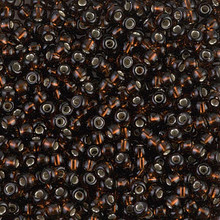 Japanese Miyuki Seed Beads, size 8/0, SKU 189008.MY8-0135S, root beer silver lined, (1 26-28 gram tube, apprx 1120 beads)