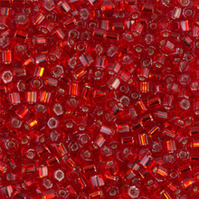 Japanese Miyuki Seed Beads, size 8/0, SKU 189008.MY8-0011cut, ruby cut, (1 26-28 gram tube, apprx 1120 beads)