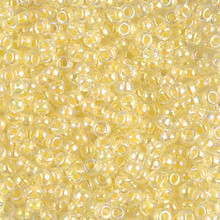 Japanese Miyuki Seed Beads, size 8/0, SKU 189008.MY8-0273, crystal lined light yellow ab, (1 26-28 gram tube, apprx 1120 beads)