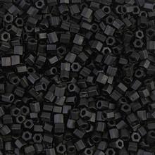 Japanese Miyuki Seed Beads, size 8/0, SKU 189008.MY8-0401Fcut, matte black cut, (1 26-28 gram tube, apprx 1120 beads)