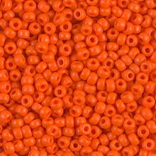 Japanese Miyuki Seed Beads, size 8/0, SKU 189008.MY8-0406, opaque orange, (1 26-28 gram tube, apprx 1120 beads)