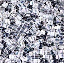 Japanese Miyuki Seed Beads, size 8/0, SKU 189008.MY8-0250cut, crystal ab cut, (1 26-28 gram tube, apprx 1120 beads)