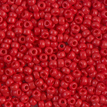 Japanese Miyuki Seed Beads, size 8/0, SKU 189008.MY8-0408, opaque red, (1 26-28 gram tube, apprx 1120 beads)