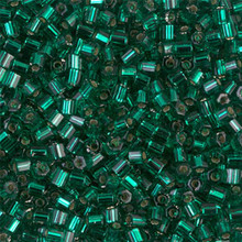 Japanese Miyuki Seed Beads, size 8/0, SKU 189008.MY8-0017cut, green silver lined cut, (1 26-28 gram tube, apprx 1120 beads)