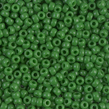 Japanese Miyuki Seed Beads, size 8/0, SKU 189008.MY8-0411, opaque jade green, (1 26-28 gram tube, apprx 1120 beads)
