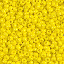Japanese Miyuki Seed Beads, size 8/0, SKU 189008.MY8-0404, opaque yellow, (1 26-28 gram tube, apprx 1120 beads)