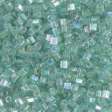 Japanese Miyuki Seed Beads, size 8/0, SKU 189008.MY8-2780cut, light sage lined crystal cut, (1 26-28 gram tube, apprx 1120 beads)