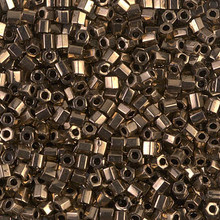 Japanese Miyuki Seed Beads, size 8/0, SKU 189008.MY8-0457cut, dark bronze cut, (1 26-28 gram tube, apprx 1120 beads)