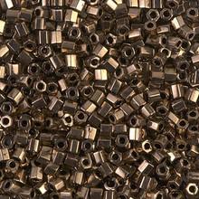 Japanese Miyuki Seed Beads, size 8/0, SKU 189008.MY8-0457cut, dark bronze cut, (1 26-28 gram tube, apprx 1120 beads)