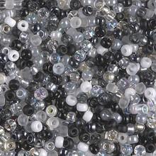 Japanese Miyuki Seed Beads, size 8/0, SKU 189008.MY8-MIX01, granite mix, (1 26-28 gram tube, apprx 1120 beads)