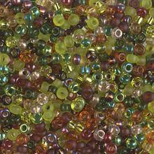 Japanese Miyuki Seed Beads, size 8/0, SKU 189008.MY8-MIX11, good earth mix, (1 26-28 gram tube, apprx 1120 beads)
