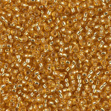 Japanese Miyuki Seed Beads, size 11/0, 0004, dark gold silver lined, (1 28-30 gram tube, apprx 3080 beads)