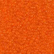 Japanese Miyuki Seed Beads, size 11/0, 0138, transparent orange, (1 28-30 gram tube, apprx 3080 beads)
