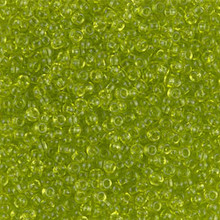 Japanese Miyuki Seed Beads, size 11/0, SKU 111030.MY11-0143, transparent chartreuse, (1 28-30 gram tube, apprx 3080 beads)