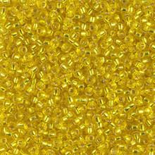 Japanese Miyuki Seed Beads, size 11/0, SKU 111030.MY11-0006, silver lined yellow, (1 28-30 gram tube, apprx 3080 beads)