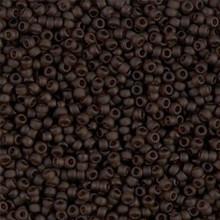 Japanese Miyuki Seed Beads, size 11/0, 0135F, matte transparent rootbeer, (1 28-30 gram tube, apprx 3080 beads)