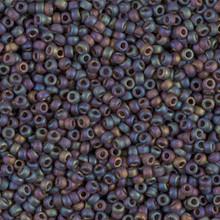 Japanese Miyuki Seed Beads, size 11/0, 0135FR, matte transparent rootbeer ab, (1 28-30 gram tube, apprx 3080 beads)