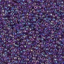 Japanese Miyuki Seed Beads, size 11/0, SKU 111030.MY11-0356, fuchsia lined amethyst ab, (1 28-30 gram tube, apprx 3080 beads)
