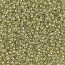 Japanese Miyuki Seed Beads, size 11/0, SKU 111030.MY11-0378, yellow lined crystal luster, (1 28-30 gram tube, apprx 3080 beads)