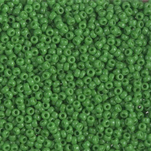 Japanese Miyuki Seed Beads, size 11/0, 0411, opaque jade green, (1 28-30 gram tube, apprx 3080 beads)
